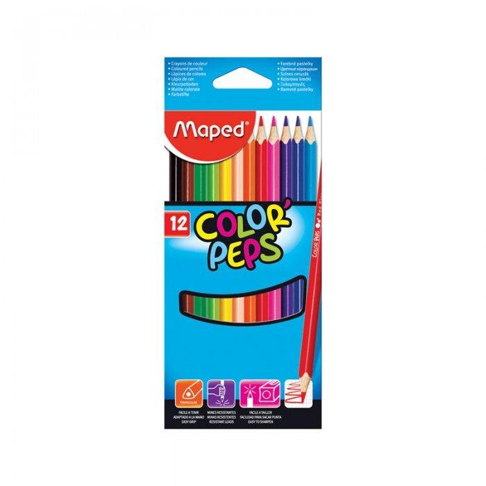 Набор цветных карандашей Maped Color Peps, трехгранные, 183212, 12 цветов