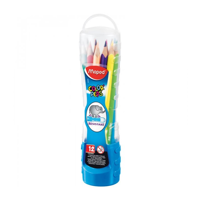 Набор цветных карандашей Maped Color Peps, 12 цветов, в тубусе, 832009