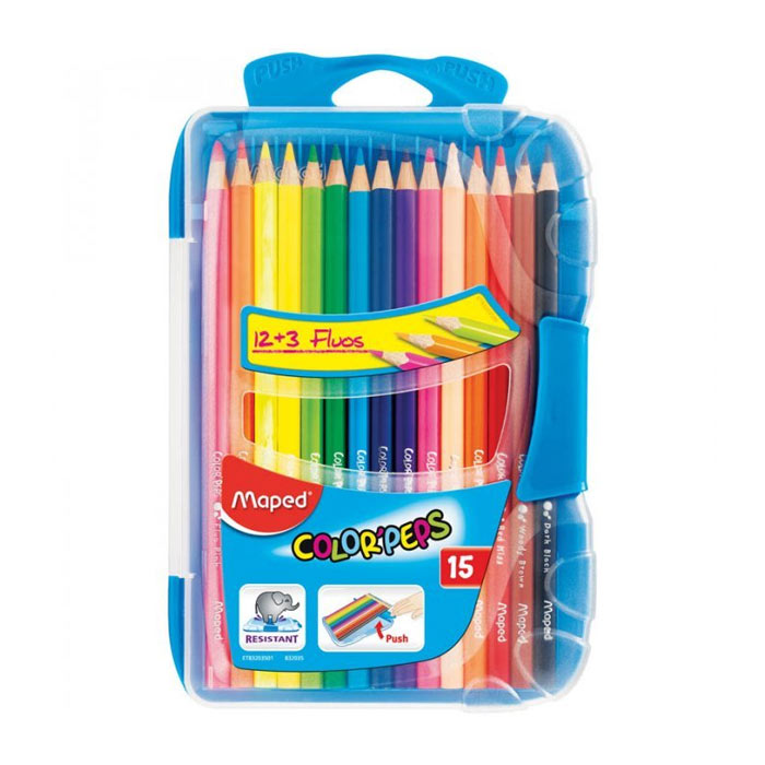 Набор цветных карандашей Maped Color Peps, 15цв, 832035