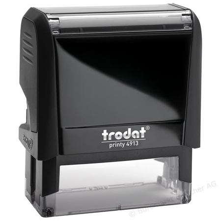 Оснастка для прямоугольной печати Trodat Printy 4913, 58х22мм, черная