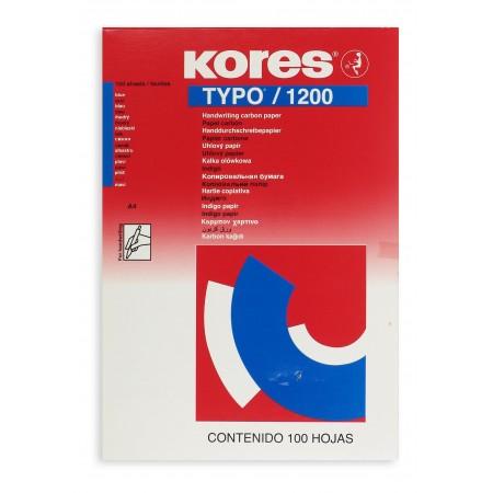 Бумага Копировальная Kores, А4, синий 100 листов