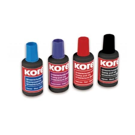 Штемпельная краска на водно-масляной основе Kores, 30мл, красная
