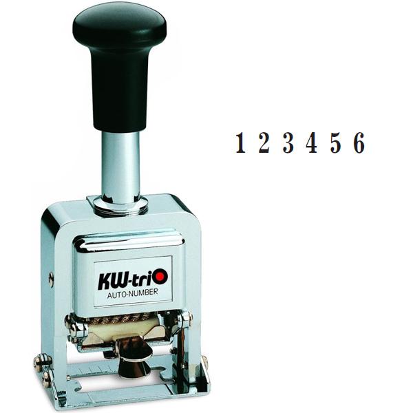 Нумератор с автоматической сменой номера KW-trio 20600, 6 разрядов, 4,8мм
