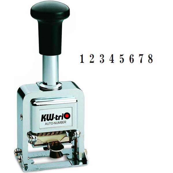 Нумератор с автоматической сменой номера KW-trio 20800, 8 разрядов, 3,7мм