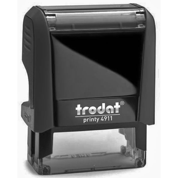 Оснастка для прямоугольной печати Trodat Printy 4911, 38х14мм, черная