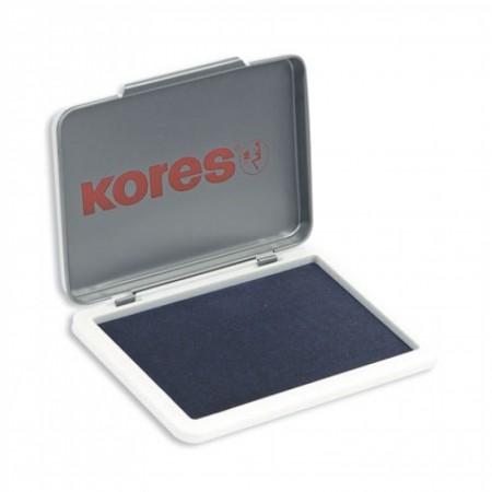 Штемпельная настольная подушка Kores 71551, 70х110мм, синяя