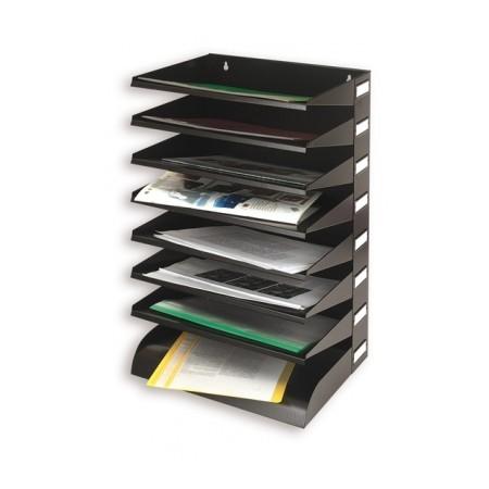 Многосекционный лоток для бумаг Atlanta Set 6160-289, А4, 360х250х535 мм, 8 секций, черный
