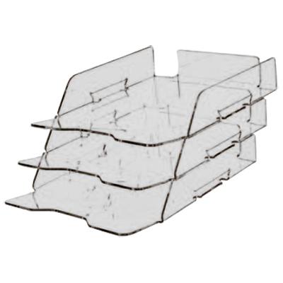 Многосекционный лоток для бумаг Лантан N303, А4, 360х250х535 мм, 3 секции