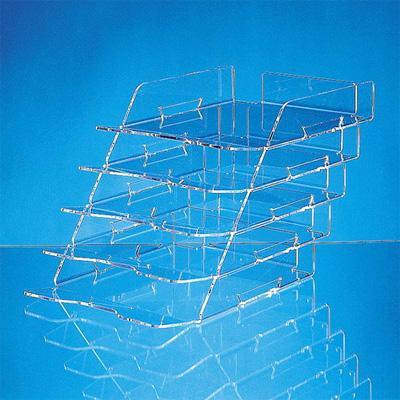Многосекционный лоток для бумаг Лантан N305, А4, 215х44 мм, 5 секций, прозрачный