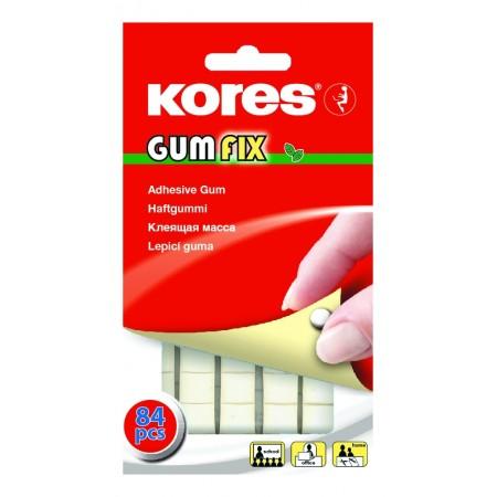Клейкая лента-масса Kores Gum Fix, удаляемая, 10х50м, 84шт/уп